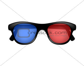 Cinema glasses in retro design