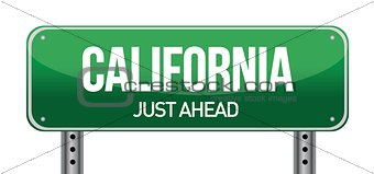 green California, USA street sign