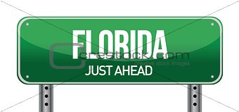 green Florida, USA street sign