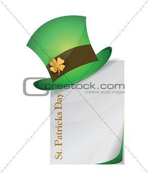 page and St. Patrick's Day hat with clover
