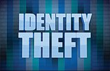 Identity theft binary concept in word