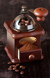 Vintage coffee grinder.