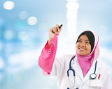 Southeast Asian Muslim medical student