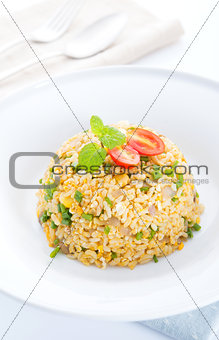 Asian Chinese egg fried rice