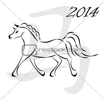 Vector horse 2014
