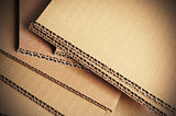 Corrugated Cardboard Background, Carton Detail