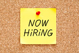Now Hiring Sticky Note