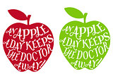 an apple a day, vector