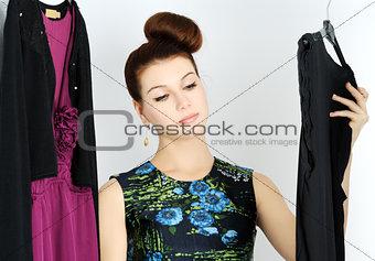 choosing dress