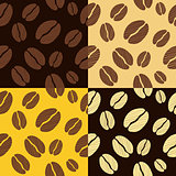 coffee beans seamless pattern background pattern vector illustration