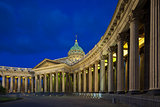 Kazan Cathedral in St. Petersburg's White Nights