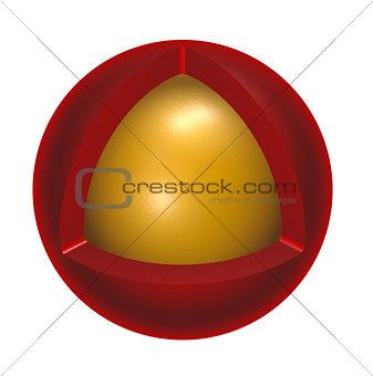 center sphere