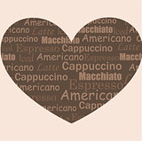 vector illustration: love coffee