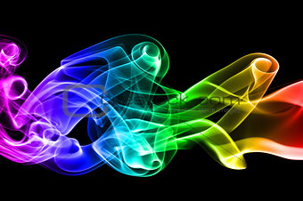 multi colored smoke