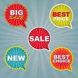 Colorful Sale Stickers And Labels
