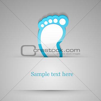 Footprint sticker.