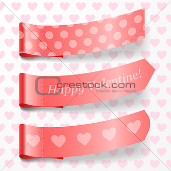Attach valentine ribbons.
