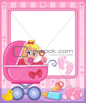 Baby theme frame 5