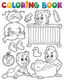 Coloring book babies theme image 1
