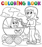Coloring book baby theme image 2