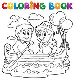 Coloring book love theme image 1