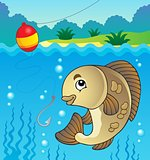 Freshwater fish theme image 1