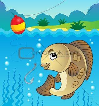 Freshwater fish theme image 1