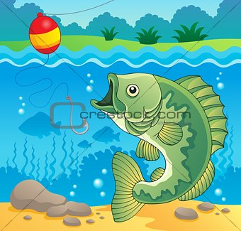 Freshwater fish theme image 4