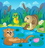 River fauna theme image 2