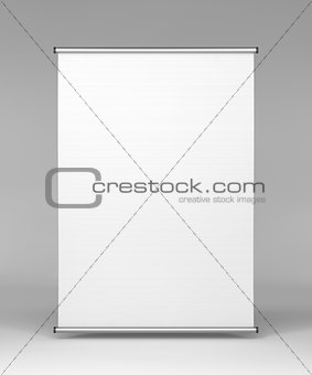 Square Stand in Gray Background.