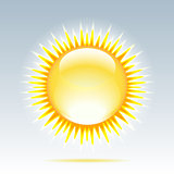 Weather icon - shiny sun in the sky.