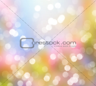 Abstract background of glittering lights