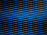 blue metallic grid or grille background
