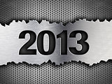 2013 new year metal template