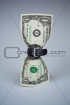 tighten belt on dollar concept
