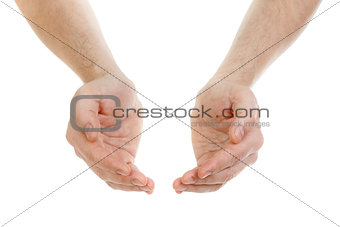 hands isolated on white concept