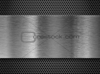 metal plate over comb grate