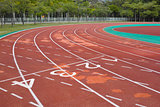 empty running track