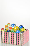 marbles balls in box