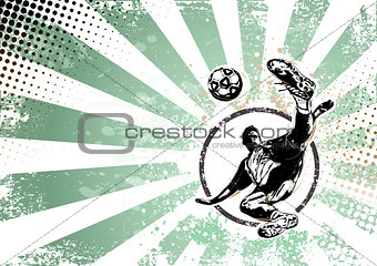 soccer retro poster background