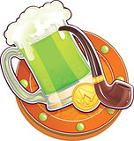 St.Patrick&#39;s Day symbol. The Green Beer