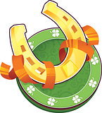 St.Patrick's Day symbol. The Horseshoe