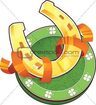 St.Patrick's Day symbol. The Horseshoe