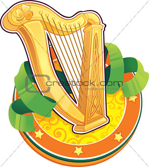St.Patrick's Day symbol. The Irish Harp