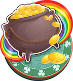 Pot of gold on Saint Patrick's Day.