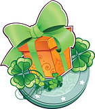 St.Patrick&#39;s Day symbol. Present