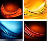 Set of business elegant colorful abstract backgrounds. Vector illustration