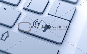 megaphone icon button