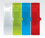 Vector progress cards for your business. Realistic feel. Paper, 
