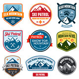 Ski badges